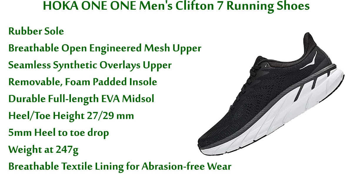 HOKA-ONE-ONE-Men's-Clifton-7-Running-Shoes