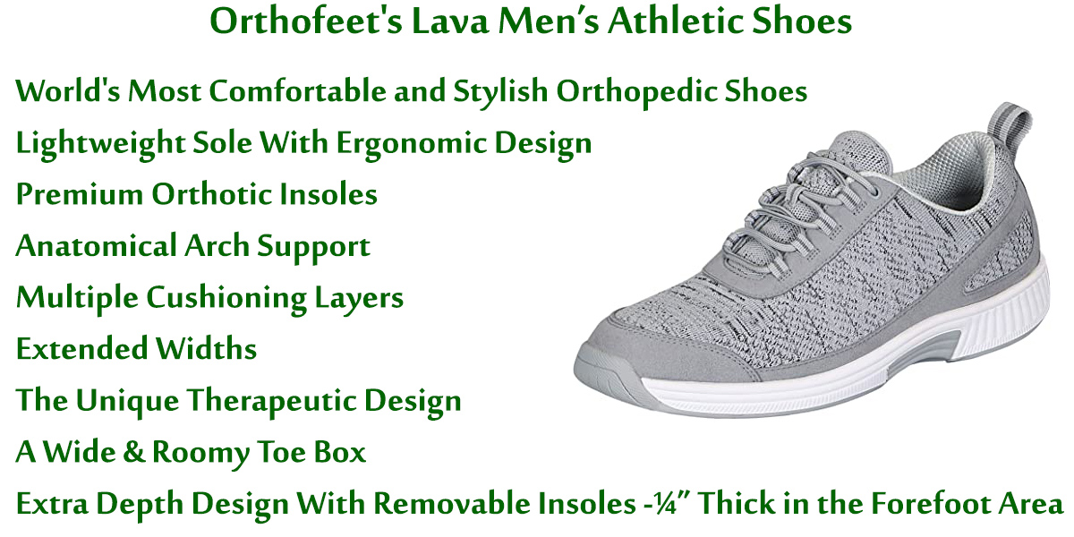 Orthofeet's-Lava-men's-athletic-shoes