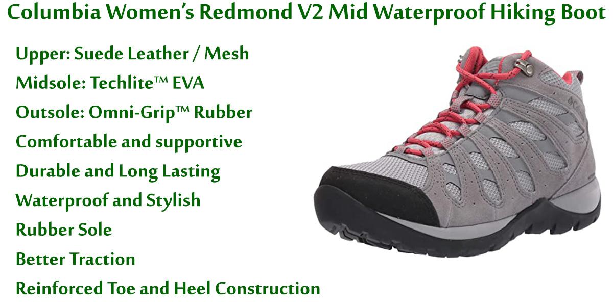 Columbia-Women's-Redmond-V2-Mid-Waterproof-Hiking-Boot