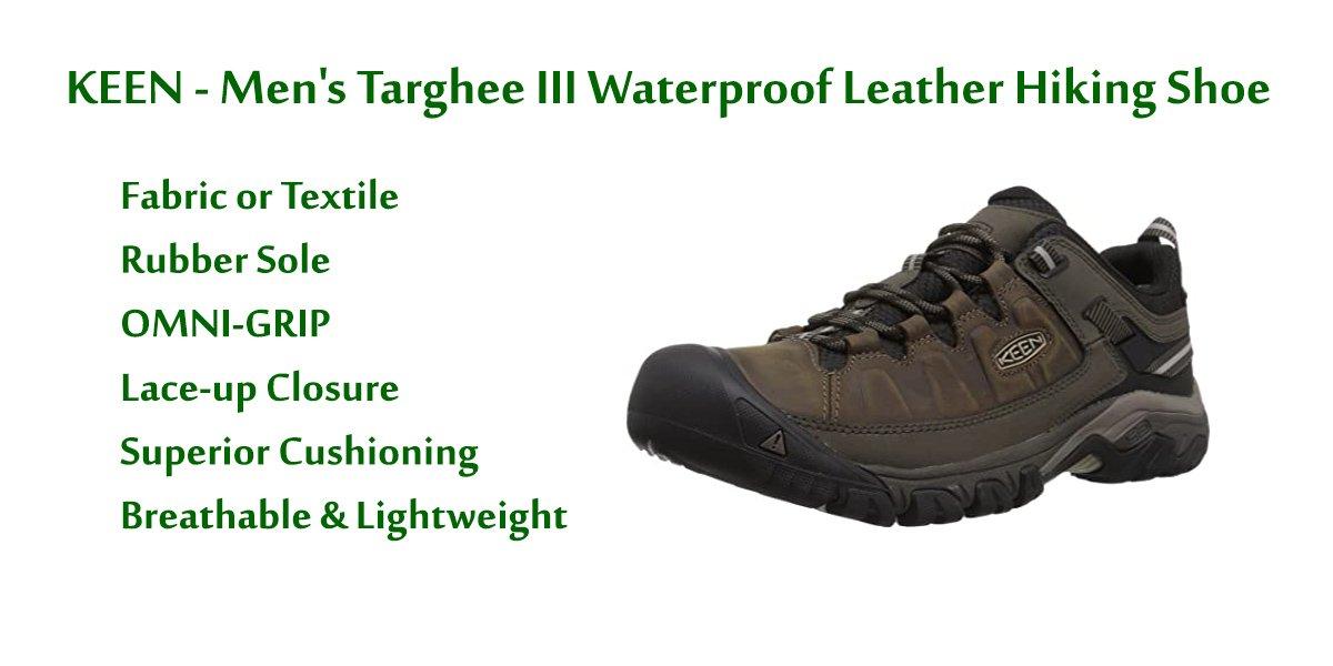 KEEN Men's-Targhee-III-Waterproof-Leather-Hiking-Shoe