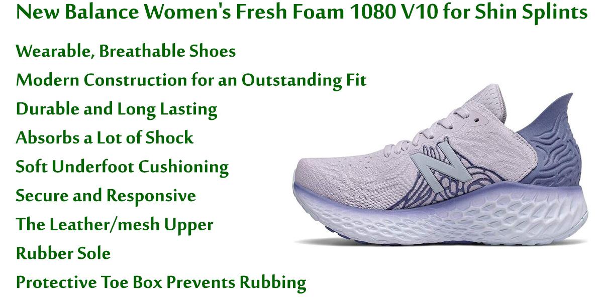 New-Balance-Women's-Fresh-Foam-1080-V10-for-Shin-Splints