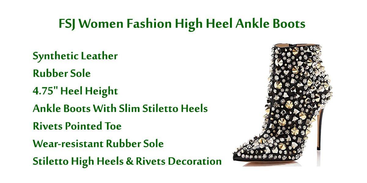 FSJ-Women-Fashion-High-Heel-Ankle-Boots