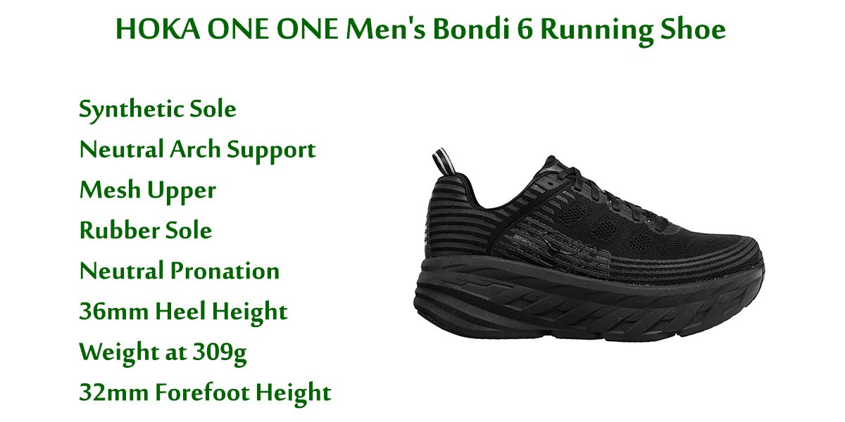 HOKA-ONE-ONE-Men's-Bondi-6-Running-Shoe