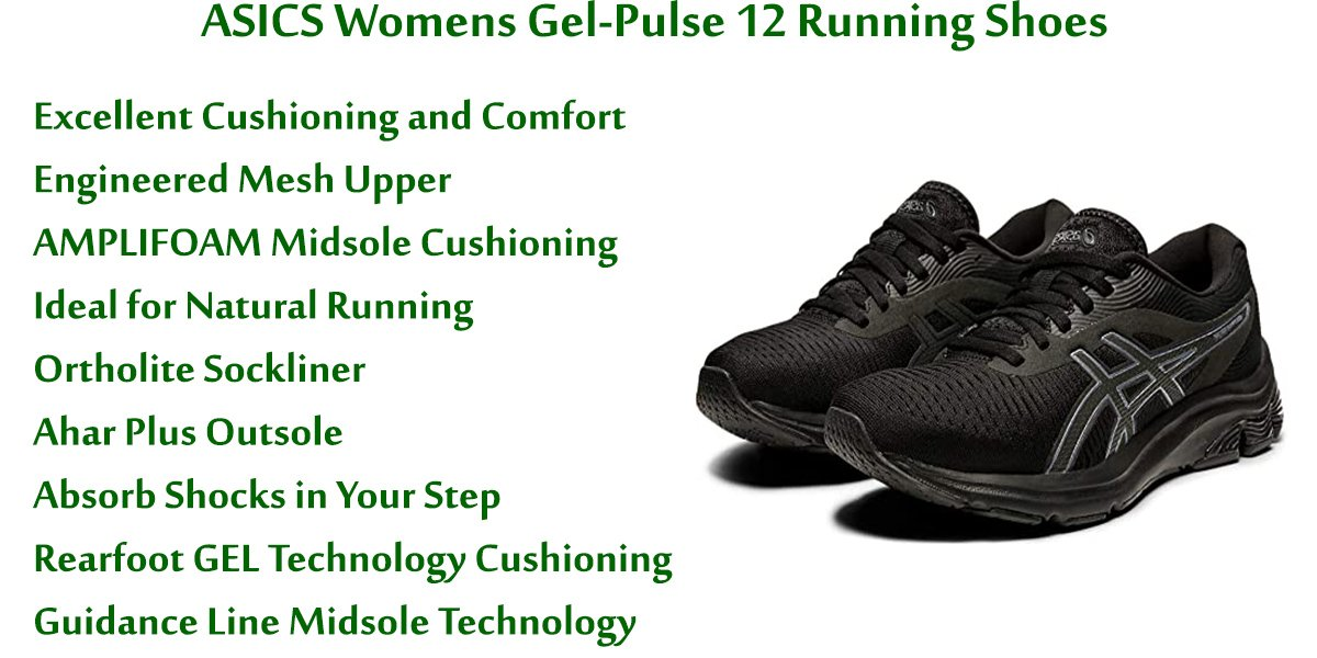 ASICS Womens Gel-Pulse 12 Running Shoes