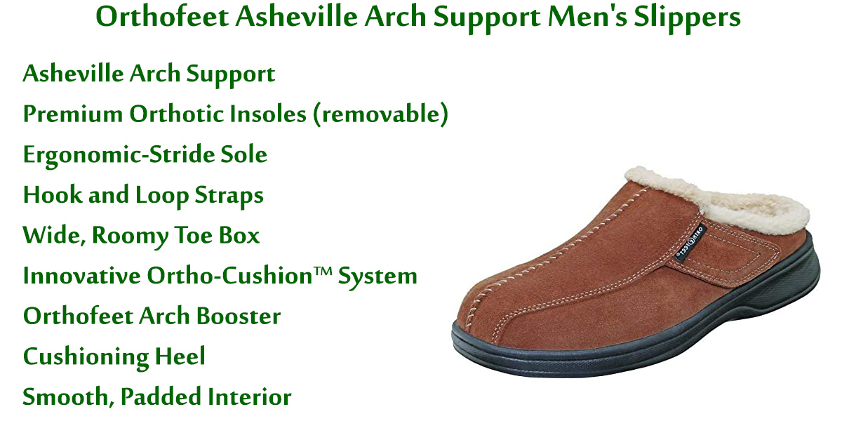 Orthofeet-Asheville-Arch-Support-Men's-Slippers
