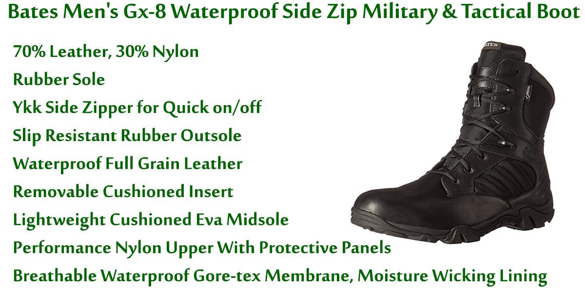 Bates-Men's-Gx-8-Waterproof-Side-Zip-Military-&-Tactical-Boot