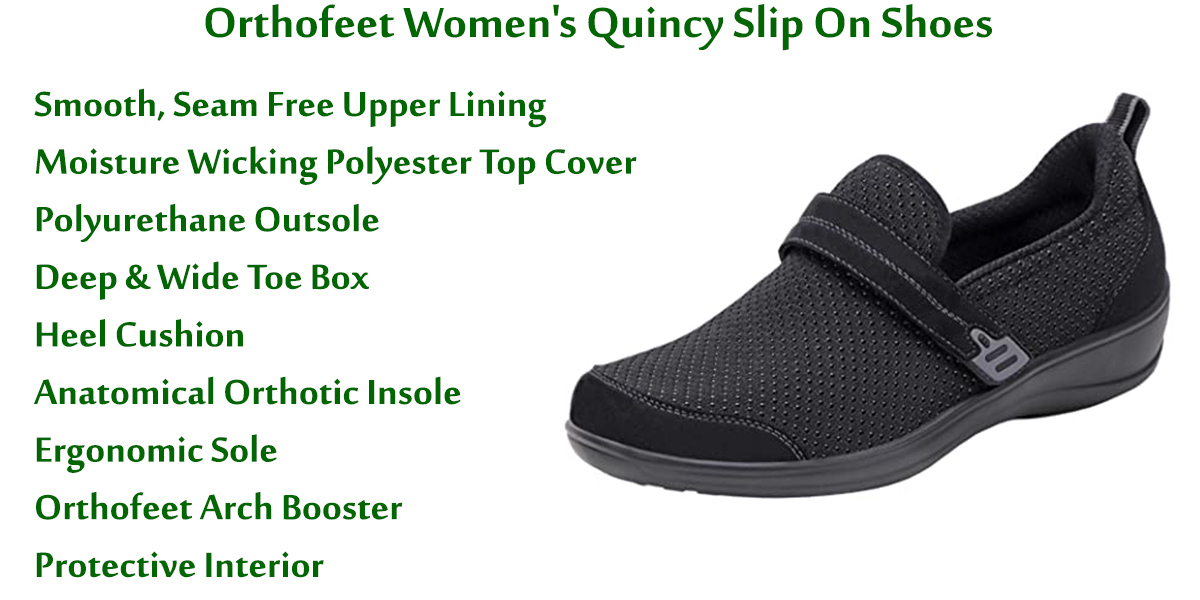 Orthofeet-Women's-Quincy-Slip-On-Shoes