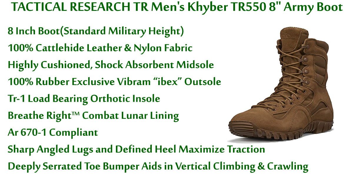 TACTICAL-RESEARCH-TR-Men's-Khyber-TR550-8-Inch-Army-Boot