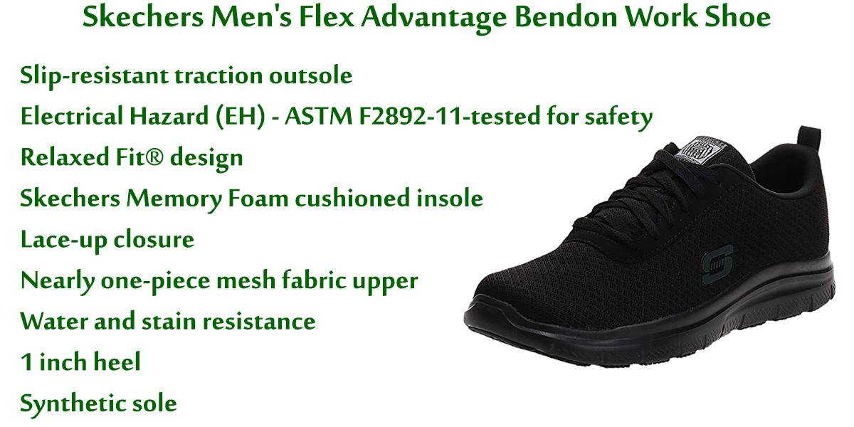 Skechers-Men's-Flex-Advantage-Bendon-Work-Shoe